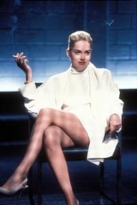 "1992"" iconic scene from ""Basic Instinct."""